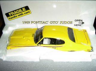 24 Danbury Mint Model The Pontiac GTO 1969 JUDGE Goldenrod Yellow
