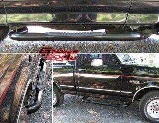 80 96 Ford Bronco/F Series Reg Cab Black Nerf Bars (Fits Bronco)