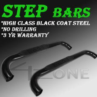 02 08 DODGE RAM 1500 STANDARD CAB 2 DOOR BLACK STEP NERF BAR Running
