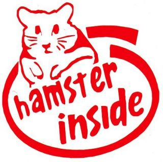 Kia Hamster Inside T 1 Vinyl Decal 6 Wide x 5.75 High, 14 Colors To