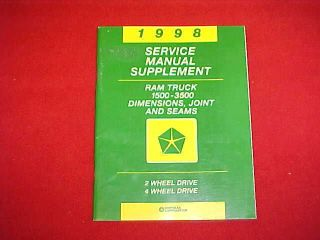 1998 DODGE RAM TRUCK 1500 2500 3500 BODY SHOP SERVICE REPAIR MANUAL 98
