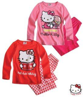 Girls Hello Kitty Long Sleeved Pyjamas BNWT   SANRIO Pyjamas Ages 2,4