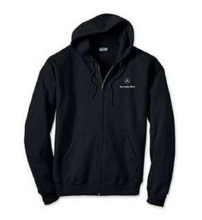 Mercedes Benz Car Logo EMBROIDERED Black Zipper Hoddie Sweatshirt New