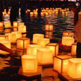 Floating Water Light Paper Candle Lotus Lanterns Chinese Wishing Lamp