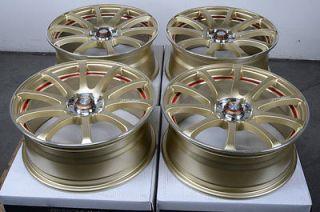 4x114.3 Gold Effect Wheels Integra Cobalt Pontiac G5 Civic Lancer Rims