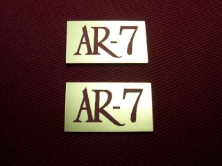 ACOUSTIC RESEARCH AR 7 PAIR OF NEW REPLICA LOGO PLATES   BEAUTIFUL