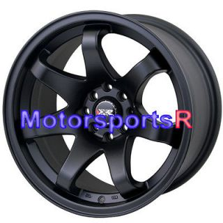 522 Flat Black Concave Rims Wheels Stance 4x100 03 05 06 Scion xA xB