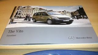 Newly listed MERCEDES VITO TRAVELINER MAY 2011 SALES BROCHURE