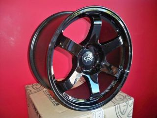 17 ROTA GRID YAMAHA BLACK RIMS WHEELS 17x9 +25 5x114.3 EVO9 EVO8 STI