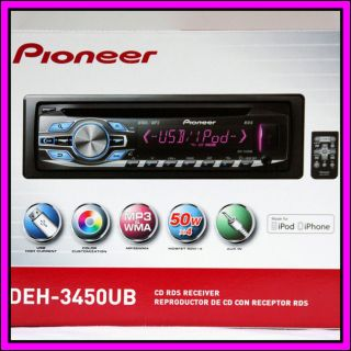 Pioneer DEH 3450UB CD USB Ipod iPhone Car Stereo Player Receiver Audio