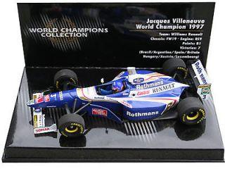 43 Minichamps Villeneuve williams Renault FW19 World Champion 1997