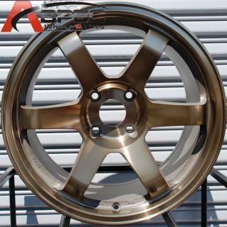 ROTA GRID 4X100 +10 FULL ROYAL SPORT BRONZE WHEEL FITS SCION XB YARIS
