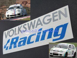 Volkswagen Racing Decal Sticker VW Golf GTI VR6 R32 R36 cd15