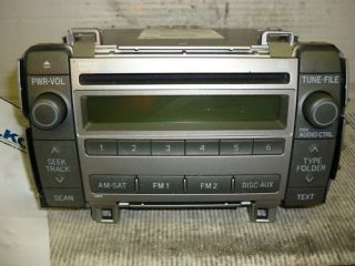 09 10 Toyota Matrix Radio Cd  Player 11819 86120 02710