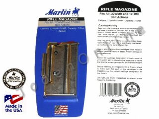Marlin 17 HMR 22 WMR BOLT ACTION RIFLE Magazine 71922 7 RD NICKEL