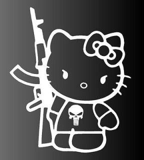 Hello Kitty AK47 AK 47 Gun Rifle Vinyl Car Decal Decals Sticker Window