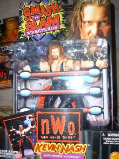 NWO Smash N Slam Kevin Nash w/ Referee 2 pack 99 action figure wwe