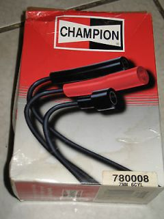 new old stock Champion spark plugs wires leads cables ignition