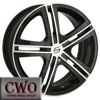 18 Black Sacchi S62 Wheels Rims 5x112/5x120 5 Lug Passat Audi Mercedes