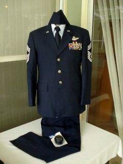 USAF AIR FORCE CHIEF MASTER SERGEANT DRESS BLUE UNIFORM