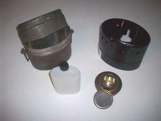 TRANGIA LUNCH BOX W/ ALCOHOL STOVE brass burner mess kit Swedish Army