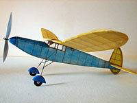 Dart Free Flight #EB11 Easy Built Balsa Wood Model Airplane Kit