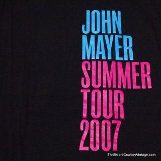 John Mayer Concert Shirt Summer Tour 2007 Rock LARGE