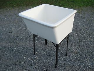 Antique Vintage Fords Porcelain Utility Sink 1960s