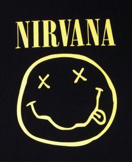NIRVANA Smiley Face Tour T shirt Kurt Cobain Rock Tee 3XL