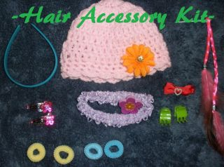 Lot Doll Wig Hair Accessories for American Girl Dolls Hat Headband