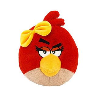 Angry Birds Plush   Valentine Girls   RED BIRD (GIRL with Yellow Bow