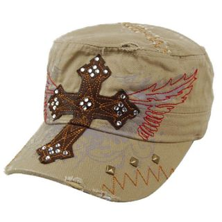 Fashion Cross Logo Angel Wings Embroidery Baseball Cap Hat Cadet New