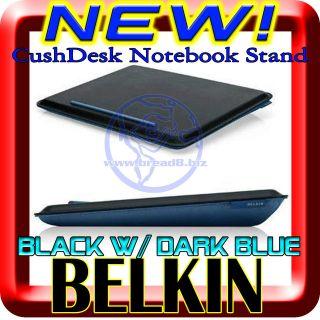 NEW Belkin CushDesk Notebook Laptop Lap Cushion Black / Dark Sky