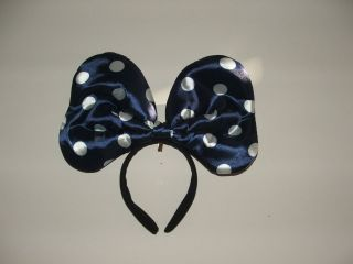 Children Adult Mickey Mouse Party Ears Costume Head Band Blue Bow Dots