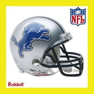 DETROIT LIONS OFFICIAL NFL MINI REPLICA FOOTBALL HELMET by RIDDELL