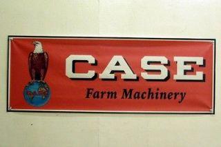 Vinage Case Farm Machinery racor Mini Banner Orange wih Eagle Logo