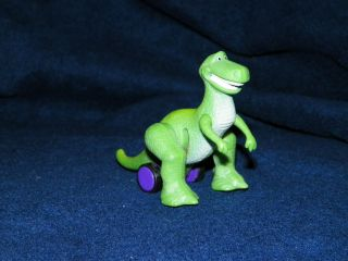 1995 Burger King Toy Story Rex Dinosaur Squash n Go Action Figure
