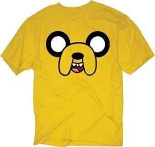 Adventure Time With Finn & Jake Face Yellow New Licensed Adult T Shirt