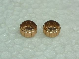 OMEGA VINTAGE WRIST WATCH CROWN BUTTONS 2 PIECE PINK GOLD PLATED