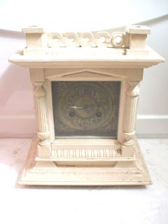 Victorian Junghans German Striking Brass Face Mantle Clock For Spare
