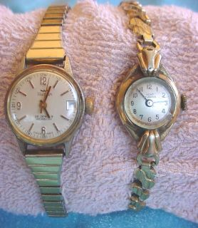 of 2 Vintage Ladies WALTHAM 25 Jewels Incabloc & KENT Watch WRISTWATCH