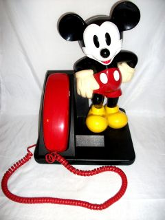 Vintage WALT DISNEYS 14 MICKEY MOUSE AT&T TRIMLINE PHONE Push Button