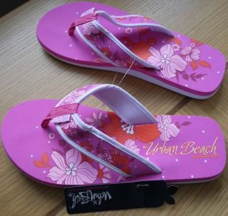 Urban Beach Womens/Ladies Flor Eterna Pink Flip Flop Sizes 3 8. Cheap