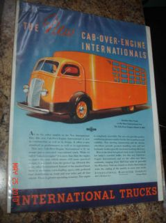 International Harvester IH CAB OVER Truck Vintage Advertisement AD