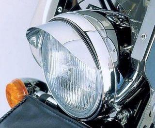 75 CHROME HEADLIGHT VISOR for Harley Davidson