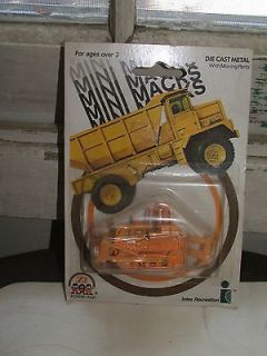 Mini Macks 1981 Die Cast Bull Dozer Construction Toy MOC