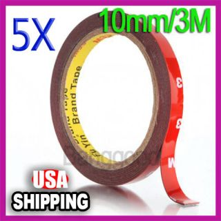 10mm Auto Truck Car Acrylic Foam Double Sided Attachment Tape Adhesive