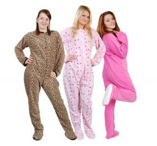 ladies all in one sleepsuit footed pyjamas romper babygrow AB DL