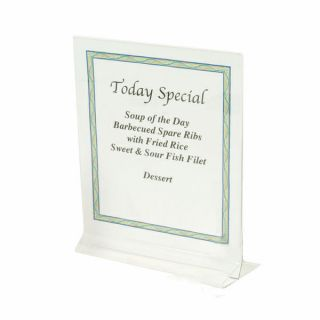 11 CLEAR ACRYLIC PLASTIC TABLE CARD MENU PAPER HOLDER