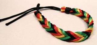 Bob Marley Braided soft Fabric Bracelet Multi String friendship new